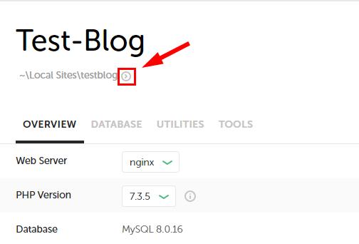 サイト目の下にある右矢印をクリック